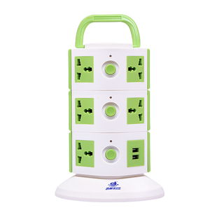 Supplier of 220V 10a universal extension power strip with handle for India