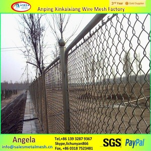 alibaba china anping used chain link fence post , hot dipped galvanized chain link fence
