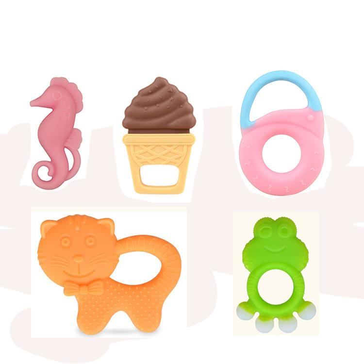 Silikon Beiß ringe Obst Traube Banane Wassermelone Baby Beißring Gummi Kauen Charms Baby Zahnen Geschenk Kleinkind Spielzeug