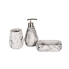 Marble effect 3 pcs concrete marble effect bathroom accessories sets produced for OEM