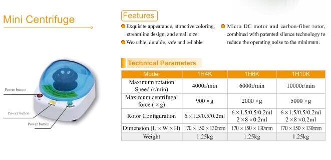 MY-B072 Benchtop Low Speed lab centrifuge price