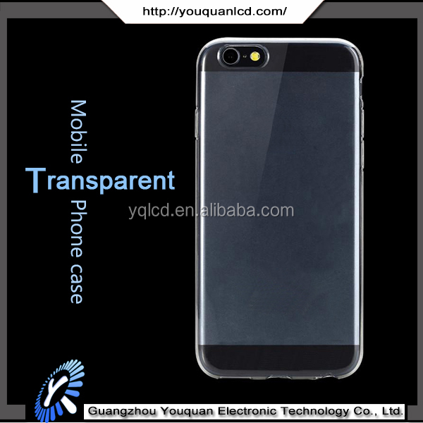 Wholesale high quality soft tpu silicone transparent clear crystal cases for iphone 6s