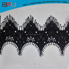 high quality eyelash lace poly elelash lace top class