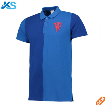 Mens Gents Two Tone Embroidery Football Soccer Sports Side Slit