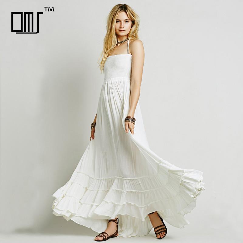 hippie jurk wit