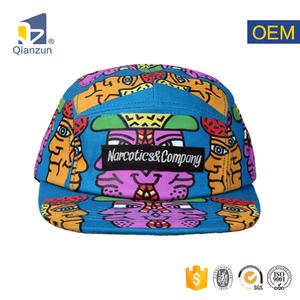 336a89e92957d Wholesale Blank Custom Digital Print 5 Panel Camp Cap Hat