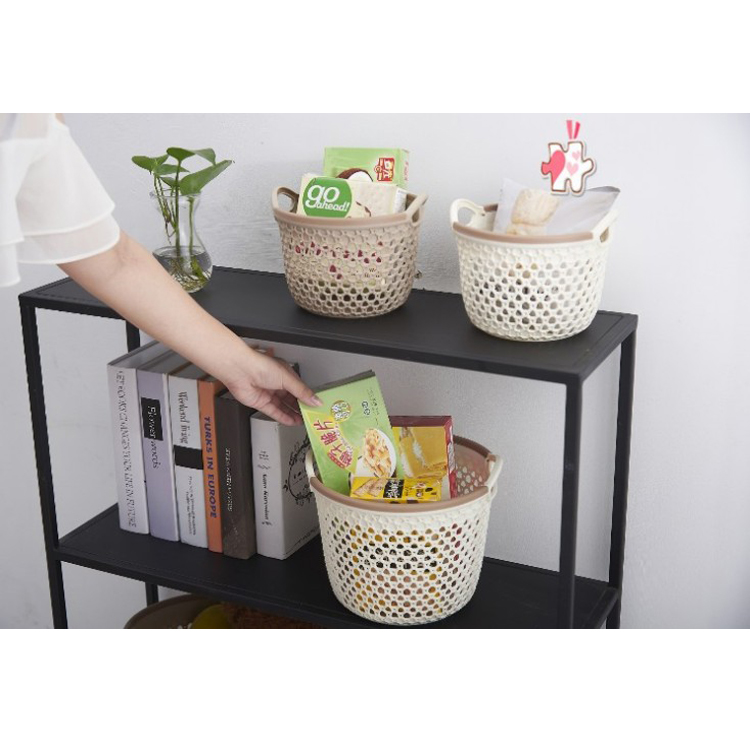 Friendship Storage Works Decorative Romantic Color Pink PP Standing Food and Vegetable Storage Baskets