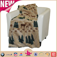 Factory price Useful soft feeling customized cow printing warm two side brushed polar fleece blankets throw