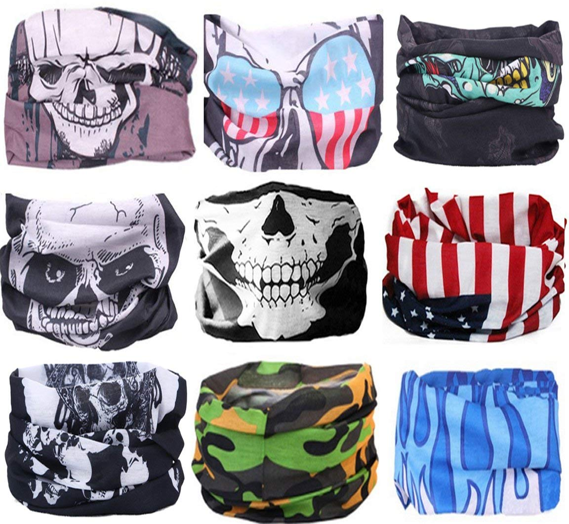 KALILY 12PCS 9PCS 6PCS Headband Bandana - Versatile Sports   Casual Headwear  –Multifunctional Seamless Neck Gaiter b98c72b6a062