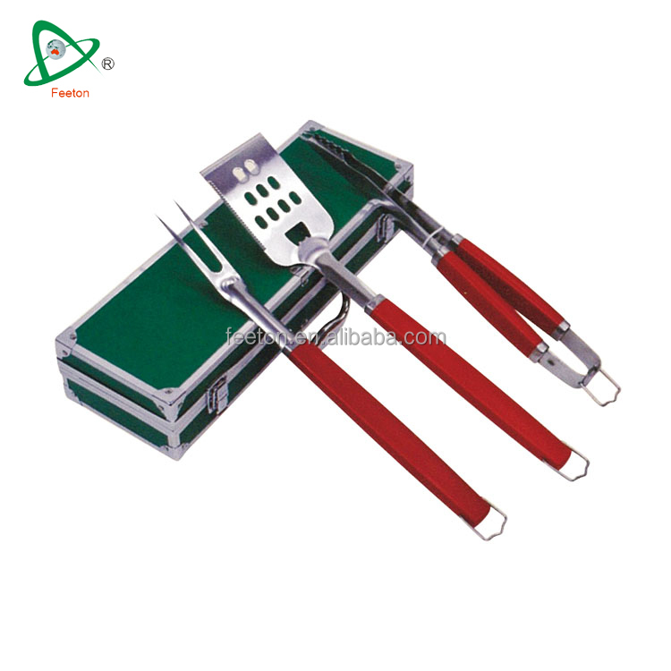3pcs high quality stainless steel wholesale bbq grill tools
