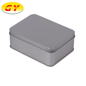 Custom gift metal container large rectangular tin box