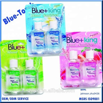 Blue King Brand Kill Germs Hand Sanitizer Gel For Travel 2oz 68ml