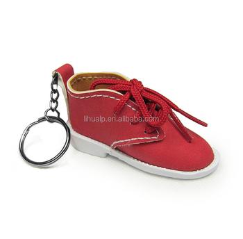 Promotional Gifts Dull Leather Shoe Keychain Pu Leather Shoe Keyring ... 84c42ab386b6