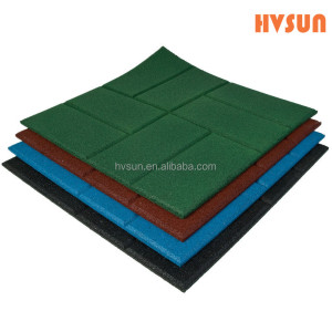 Commercial fire resistant mat shockproof and anti-slip rubber flooring tiles