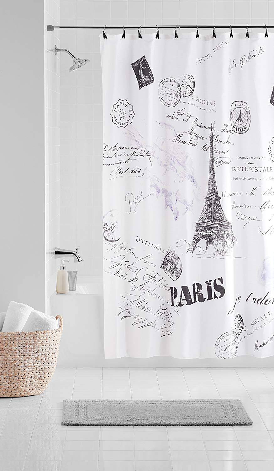 Get Quotations Casa Paris 13 Piece Shower Curtain Set 70 X 72 White