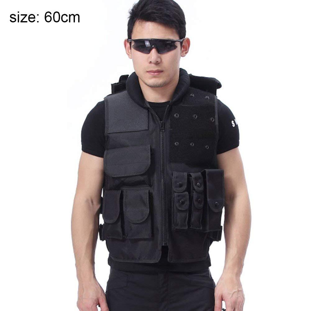 osierr6 Adult Multi Pocket Tactical Vest, Outdoor Multifunctional Outdoor Fishing Hunting Front Zipper Closure Vest Adjustable Sides Belt Removable Large Pocket Vest Hunting Camping Hiking Jacket