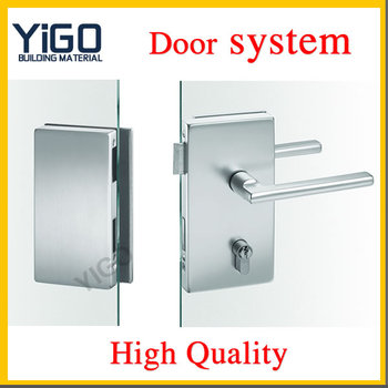 Chinese Door Locks Manufacturers Stainless Steel Glass Door Sliding