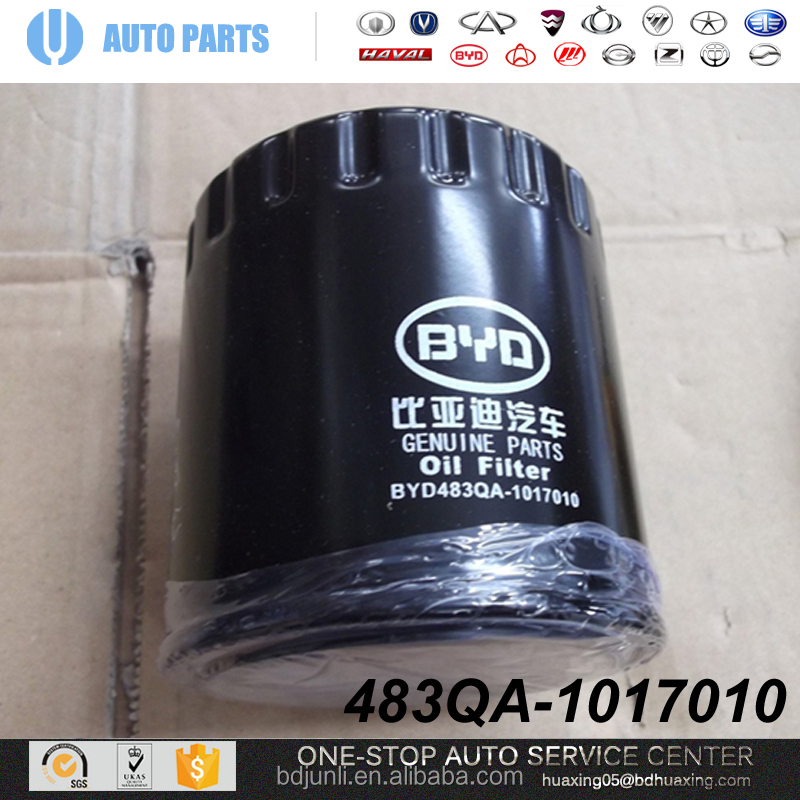 483QA-1017010 Oil Filter BYD S6 AUTO SPARE PARTS FULL ACCESSORIES FOR CHINA BYD S6 repuestos chinos para autos