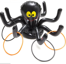 inflatable black spider toss ring games kids toy