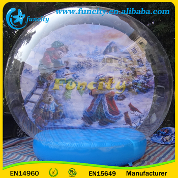 inflatable halloween decoration human snow globe for party and event