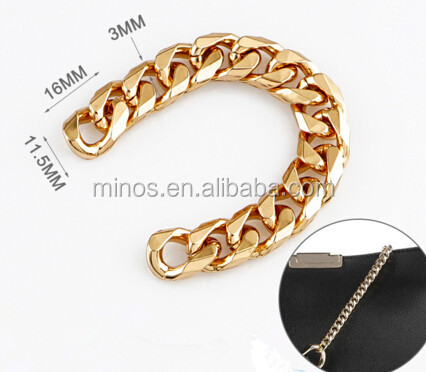 Adjustable Metal Leather Link Chain Strap For Bag Accessories ally express cheap wholesale jewelry