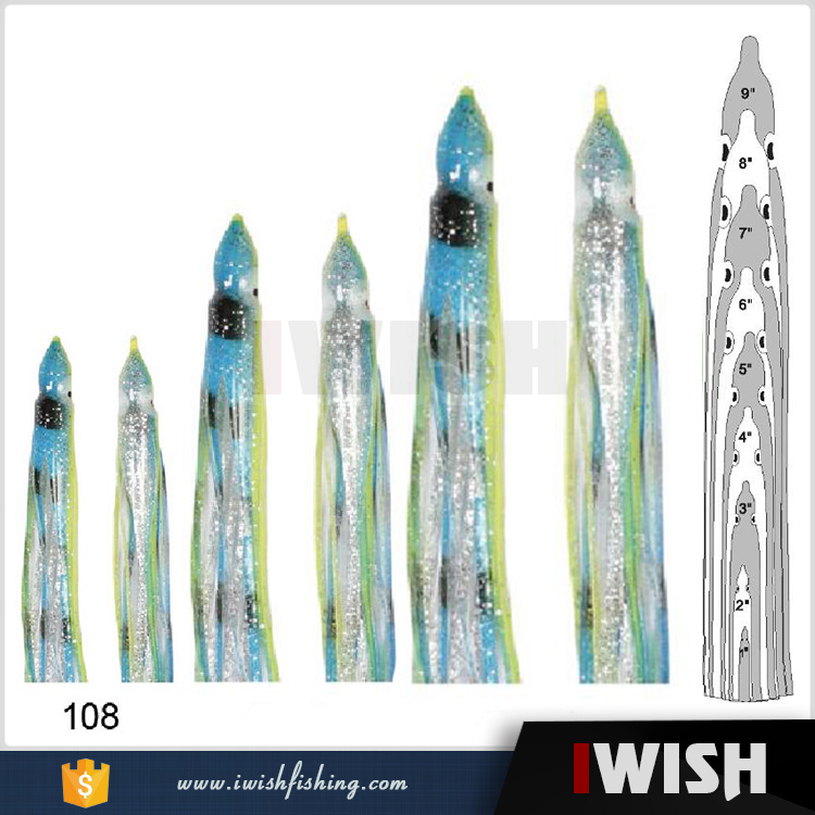 Wahoo Lures Trolling With Eyes Head Skirts Replacement Tails
