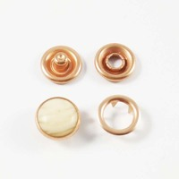 Wholesale metal four parts custom bronze press metal snap 10mm button for babies clothing