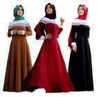 Quality material solid not see skin cotton kaftan Embroidery Long Sleeve For Women Islamic Casual Maxi abaya Dresses
