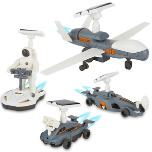 4 In 1 DIY Solar Toy Educational Space Exploration Fleet Kit For Kids 2033