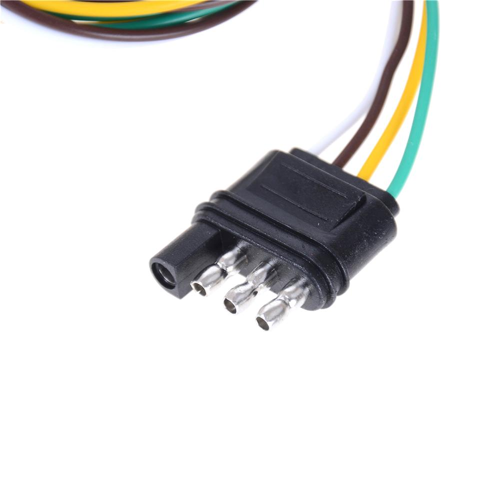 4 Pin Plug 18 Awg Flat Wire Connector Trailer Male Plug Trailer Light Wiring Harness Extension