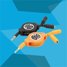 high speed audio headphone microphone splitter cable adapter