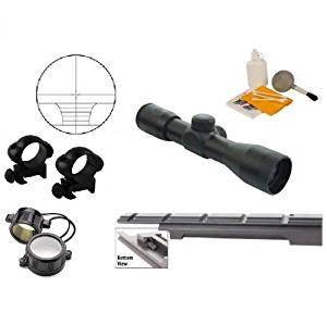 Ultimate Arms Gear Enfield Rifle Scope .303 NO.1 MK3 Rail Mount + 4x30 Rangefinder Range Finder Scope + Scope Rings + Lens Covers + Lens Cleaning Kit