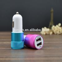 Best Quality Multifunctional AU EU UK adapter quick 5V 2A dual USB Car Charger,Unique shape usb car charger