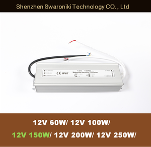 12V 150W waterproof LED Power Supply 12v 12.5a ip67 Waterproof LED Driver Lighting Transformer 100-240V AC DC12 Adapter for