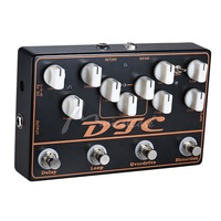 Mini Guitar Effects Pedal Distortion, Overdrive, LOOP, Delay 4 Effects in 1 Electric Guitar Effects Pedal