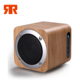 Portable wooden classic mini wireless stereo boombox speakers Hands-free support TF card