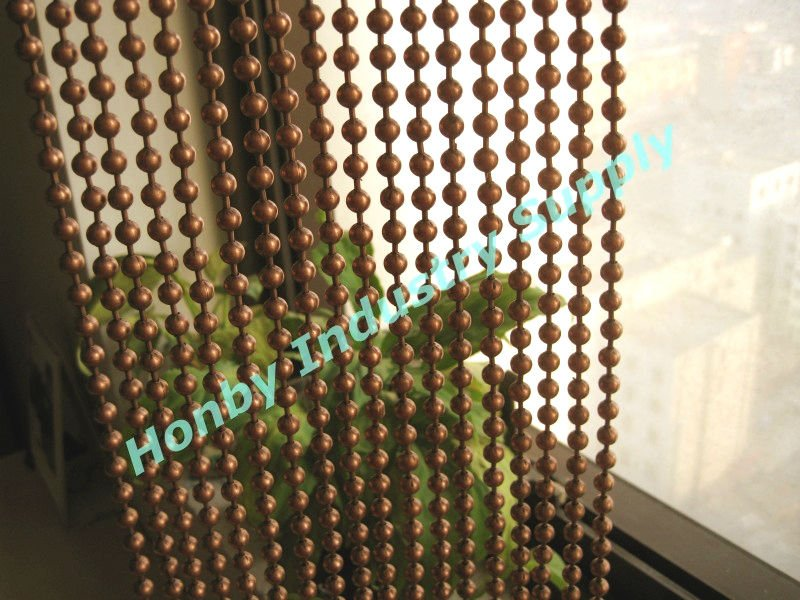 2012 New Vintage Copper Metal Bead Curtain