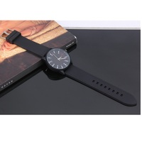Top quality japan movt quartz watch stainless steel back PU leather watches strap life waterproof hand watch