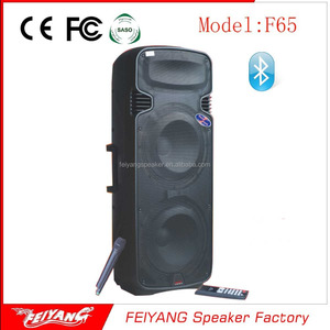 Trolley battery speaker 10 Inch bass large audio loudspeaker box professional stage active speaker with Bluetooth