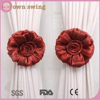 1Pair Rose Flower Window Curtain Tieback Buckle Clamp Hook Fastener Decor Voile Net Drape Panel