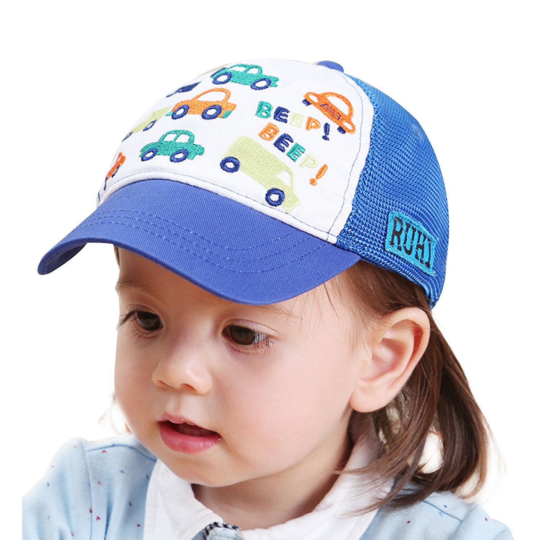45c290faca8 Home Prefer Toddler Boys Baseball Cap Cars Sun Protection Hats Airy Mesh  Sun Hat