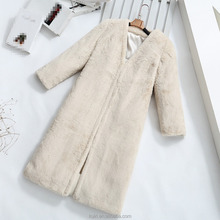 Autumn winter Iarge size women's fur Coats long sections loose Autumn and winter warm fur Jacket