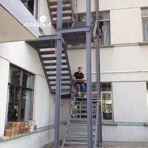 Outside Build Used Metal Fire Escape Stairs