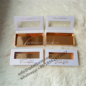 Private Label White Pineapple Texture Custom Eyelash Box Packaging With Rose Golden Stamping Logo