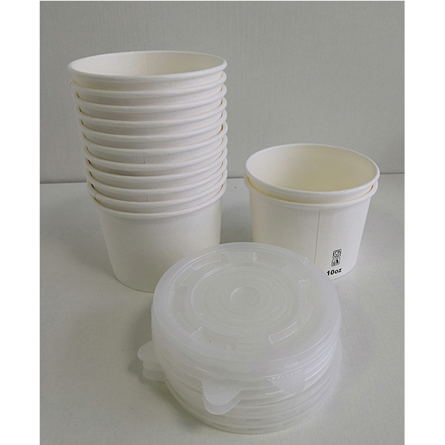 High quality hot soup paper bowl with plastic lid ice cream cup and paper take away food bowls
