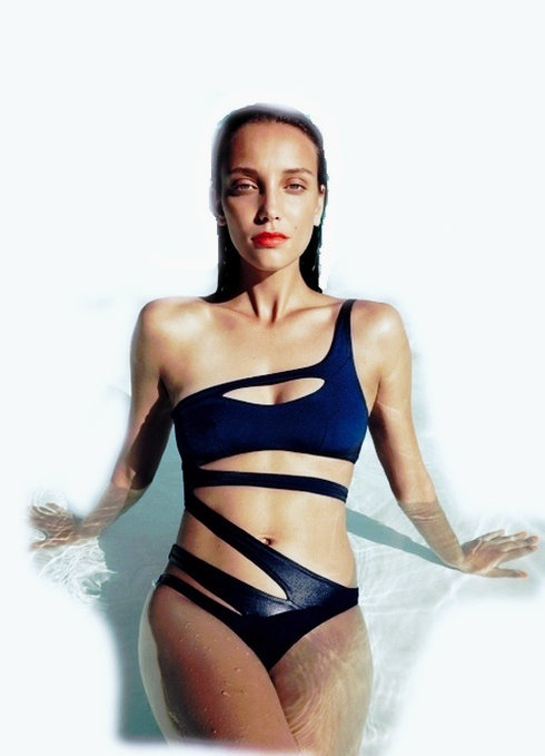 31d45c69f9 Sexy Hollow out One Pieces Swimwear For Women Bandage Slim Swimsuit One-piece  Swimming Costumes