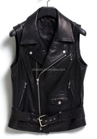 Buy new style cool punk rock band black studded leather vest in ...