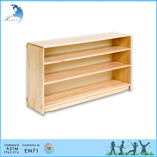 School Teaching Material Storage Kids Wooden Montessori Toy Storage Shelf