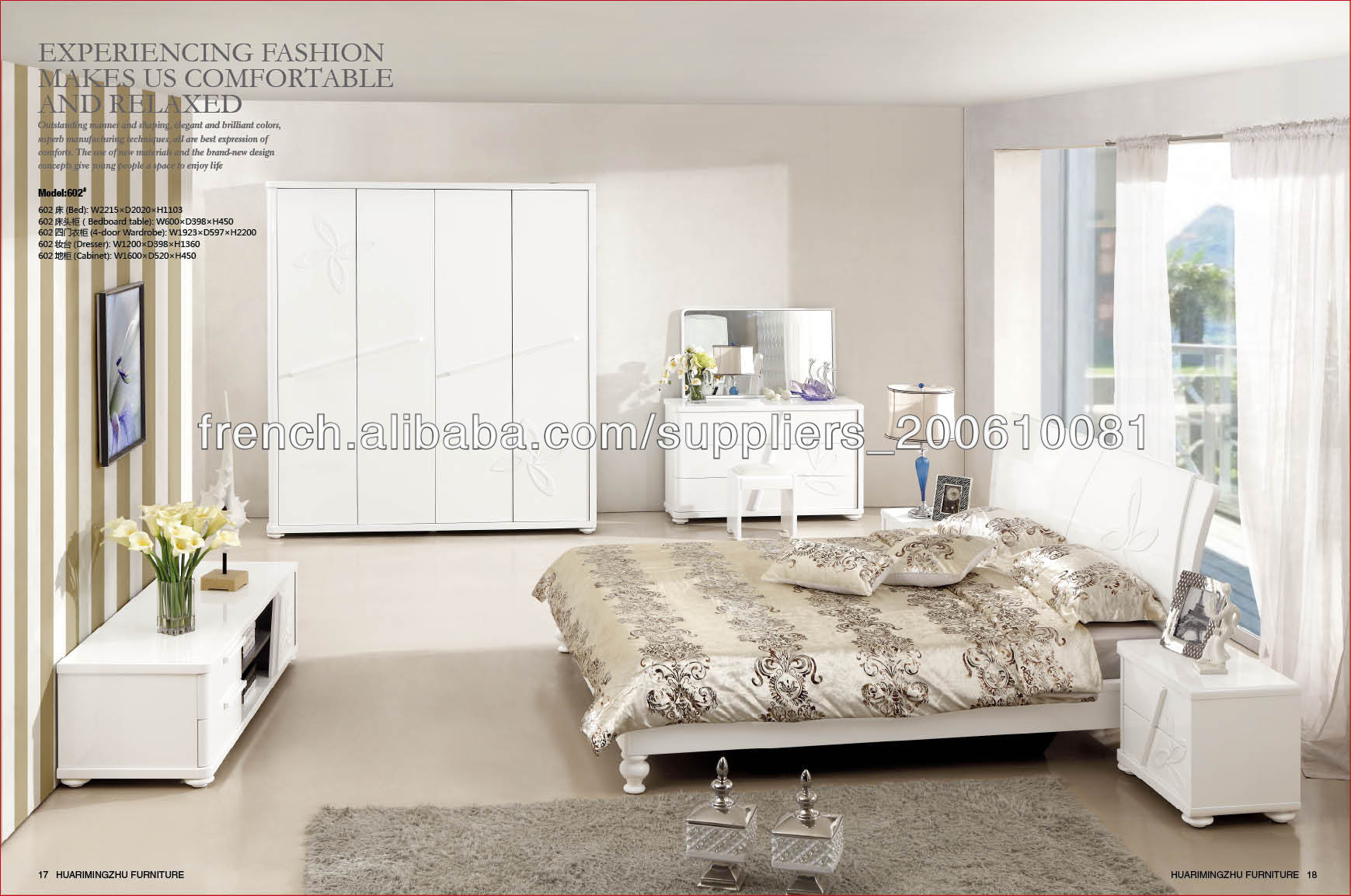 Amazing Mobilier De Chambre À Coucher Blanc