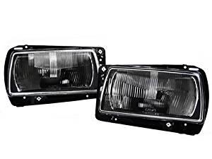 get quotations � 1985-1992 vw jetta mk2 ecode black aero glass headlights +  wiring adapters